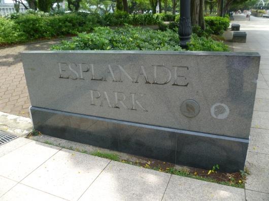 Esplanade Park sign